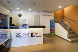 The lobby or reception area at Apartamentos 2Sleep