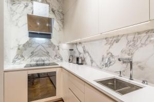 A kitchen or kitchenette at Luxury Apartment in Schegargasse