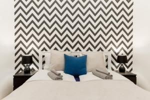 Ein Bett oder Betten in einem Zimmer der Unterkunft B\BEST LOCATION at Budapest 4 you\with A/C