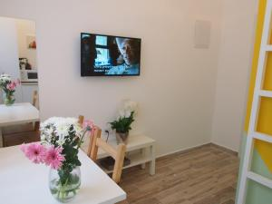 A television and/or entertainment center at Paamonim Studios