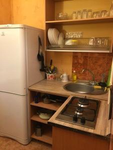 Кухня или мини-кухня в Apartment on Leonova 16