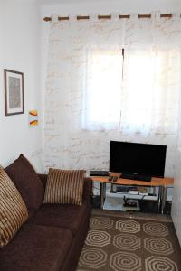 A television and/or entertainment center at Apartments & Room Anita