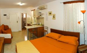 A bed or beds in a room at Apartments Santa Croce Rovinj