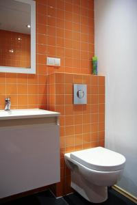 A bathroom at Just in Center apartment