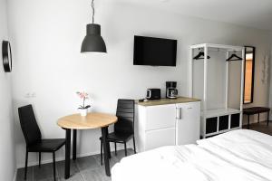Sjónvarps- og/eða afþreyingartæki á Eldey Apartments