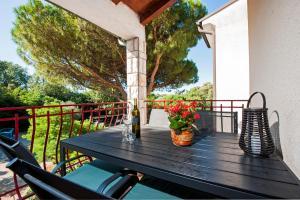 A balcony or terrace at Apartment Nika