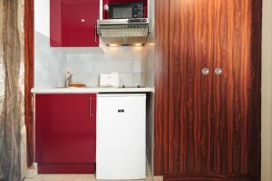 A kitchen or kitchenette at Studio Massenet Five stars holiday house