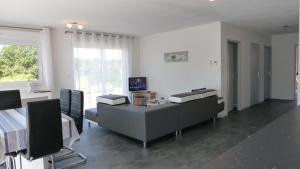 A television and/or entertainment center at Villa Mirabelle