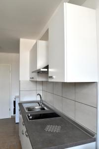 Kuhinja oz. manjša kuhinja v nastanitvi Apartments Hiša na Placi