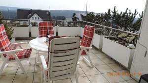 Ein Balkon oder eine Terrasse in der Unterkunft Apartment Winterbergerstraße 27