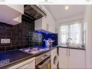A kitchen or kitchenette at Cosy Studio apartment in FULHAM