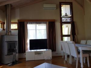 A television and/or entertainment centre at Imatra Star Saimaa Villas