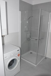 A bathroom at Apartament HORYZONT