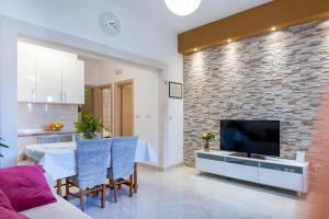 Coin salon dans l'établissement Luxury Apartments
