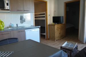 Cuisine ou kitchenette dans l'établissement Le Telemark