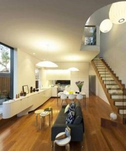 A seating area at Stunning Architectural Family House In Rozelle