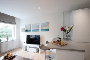 Televiisor ja/või meelelahutuskeskus majutusasutuses Hampden Apartments - The George
