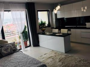 A kitchen or kitchenette at Modern and Cozy Apartment Cluj