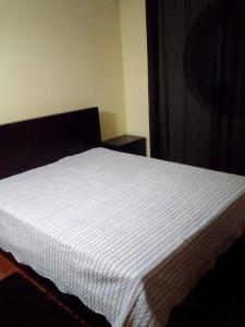 A bed or beds in a room at Apartamento Junto A Praia