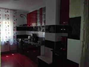 A kitchen or kitchenette at Apartament Ela Elegance