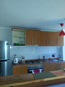 Una cocina o zona de cocina en Departamento en Pucon