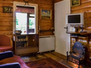 A television and/or entertainment center at The Cabin