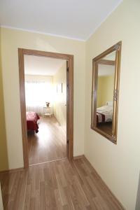 Vonios kambarys apgyvendinimo įstaigoje Sauliaus apartamentai