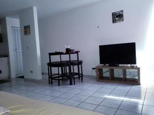 A television and/or entertainment center at Beach Front Apt Isla Verde 3