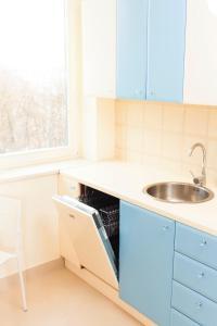 Virtuvė arba virtuvėlė apgyvendinimo įstaigoje Royal Park Executive Apt