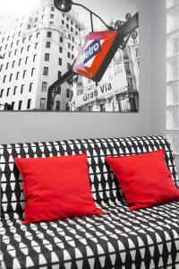 格蘭大道租賃公寓-丘埃卡房間的床