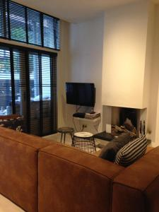 A television and/or entertainment center at Central Garden Apartment