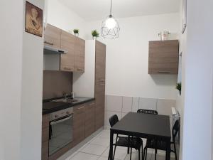 Cuisine ou kitchenette dans l'établissement Studio Champagne