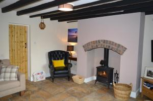 A seating area at Canalside Cottage