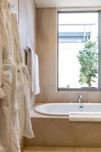 A bathroom at Constellation Apartments
