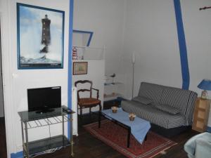 Coin salon dans l'établissement Manoir de Moncan