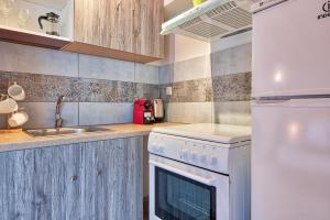 Η κουζίνα ή μικρή κουζίνα στο Athens Way Apartments