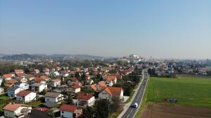 Ptičja perspektiva nastanitve Apartments&Rooms Andrej