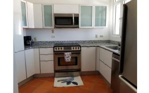 A kitchen or kitchenette at Beautiful Villa at The Rio Mar Beach Resort