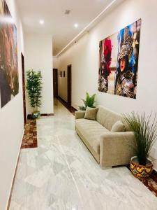 The lobby or reception area at Palazzo Caltagirone Apartments