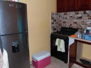A kitchen or kitchenette at Hotel Villa Candy