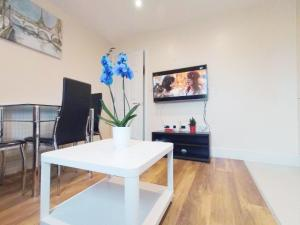 A television and/or entertainment center at Tulip 5 Top Floor at Hammersmith