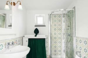 Ett badrum på La Dimora