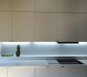 A kitchen or kitchenette at Apartamentos Loft IFEMA Madrid