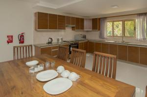 A kitchen or kitchenette at Sahaj Holiday Apartments