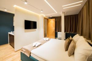 Krevet ili kreveti u jedinici u okviru objekta Belgrade Center Luxury Apartments