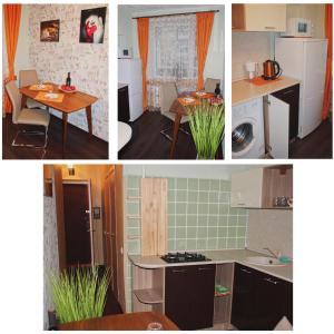 Кухня или мини-кухня в Apartment on Sovetskaya 177