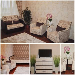 Гостиная зона в Apartment on Sovetskaya 177