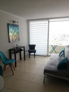 Zona de estar de Depto La Serena Playa