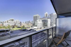 A balcony or terrace at Lux 1BR Suite in King West with Free Parking
