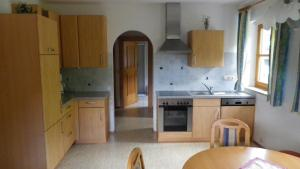 Küche/Küchenzeile in der Unterkunft Rosensteinhof